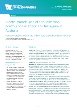 Alcohol brands' use of age-restriction controls on Facebook and Instagram in Austr-1