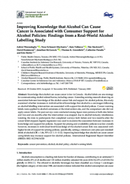 Improving Knowledge that Alcohol Can Cause Cancer is Associated with Consumer Support for Alcohol Policies: Findings from a Real-World Alcohol Labelling Study